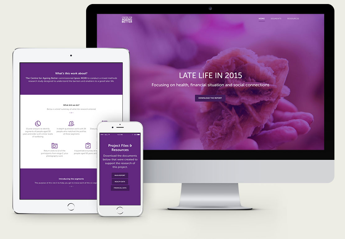 Centre for Ageing Better Interactive Microsite Design