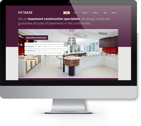 METBASE Responsive Website Design